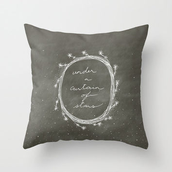 Curtain Of Stars Throw Pillow Cover - Belles & Ghosts Home Decor Collection