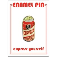THE FOUND PIN - TECATE WITH LIME WEDGE
