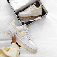 Nike  Air Force 1 Low White and yellow casual women's shoes