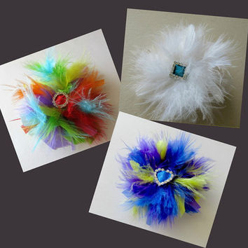 3 X Lapel Pin Brooch Ladies Womens Winter Coat Feather Christmas Gift Idea Feather Accessory