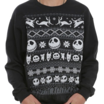 The Nightmare Before Christmas Fair Isle Crewneck Pullover 2XL