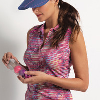 EP New York Ladies & Plus Size Sleevless Golf Shirts - A Place in the Sun (Summer Berry Multi)