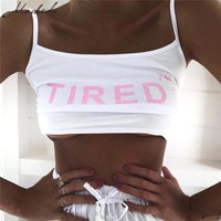 Macheda 2018 New Fashion Sexy Crop Tops Womens Workout Tank Top Fitness Bralette Bustier Top Sleeveless Camisole Crochet Croptop