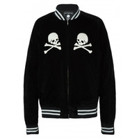 MASTERMIND WORLD SKULL DETAIL VARSITY JACKET | The Webster