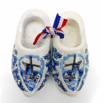 Dutch Wooden Clogs Deluxe Delft Windmill
