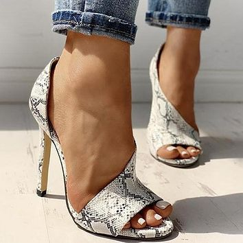 New fashion fish mouth sandals stiletto high heels hollow women shoes