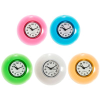Silicone Bathroom Kitchen Shower Suction Wall Clock Multicolor Water-Resistant Timer Gift Red Blue Green Yellow White
