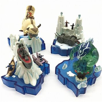 Avatar Series the last airbenders Micro Scene Siege of the North, Fire Nation, Appa Warship Figurals Collection Model Gift|