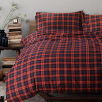 Hot Deal Bedroom On Sale Cotton Thicken Plaid Rinsed Denim Bedding Bed Sheet Bedding Set [6451762758]
