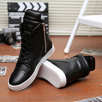 Fashion Men Casual Leather Boots Cool Boy Shoes