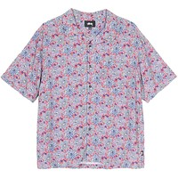 Floral Print Shirt Red