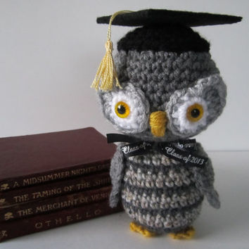 "Graduation Gift, Crochet Owl with Graduate Cap, Graduation Keepsake, Graduation Owl - ""MADE to ORDER"" by CROriginals"