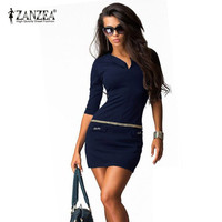 Plus Size S-4XL 2015 Summer Autumn Women Dress V-neck Half Sleeve Package Hip Sexy Vestidos Bodycon Bandage Ladies Mini Dresses