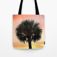 Palm and Sunset Tote Bag by Legends Of Darkness Photography