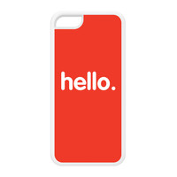 Hello White Silicon Rubber Case for iPhone 5C by textGuy