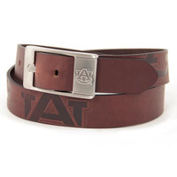 Auburn Tigers NCAA Men's Embossed Leather Belt (Size 40)