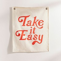 Take It Easy Flag Tapestry | Urban Outfitters