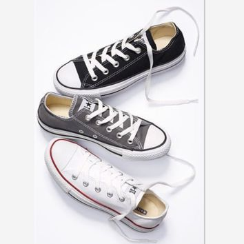 """""""Converse"""" Fashion Canvas Flats Sneakers Sport Shoes Low tops (8-color)"""