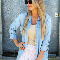 All or Denim Button Up