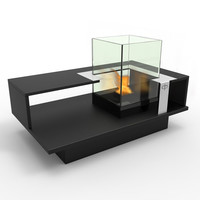 Compact 2-Level Bio-Ethanol Fireburning Coffee Table