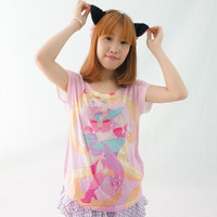 [Princess-misery Design] Sailor Moon With Donut In Mouth T-shirt SP151666