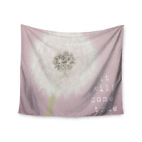"""Susannah Tucker """"It Will Come True"""" Pink Flower Wall Tapestry"""