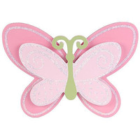 "Babies""R""Us Wooden Baby Girl Butterfly Wall Decor"
