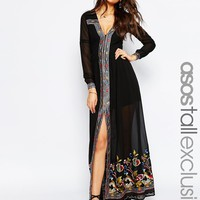 ASOS TALL Maxi Dress with Embroidery