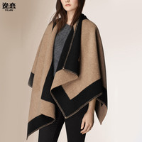 New luxury Brand Color matching cashmere Poncho winter thicker warm shawls wrap double side  cape Echarpes YL-70087