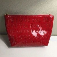 ONETOW Yves Saint Laurent YSL beaute Red cosmetic bag Only