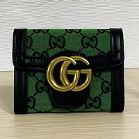 GG New Embroidered Letter Flap Wallet Square Clutch Bag Key Bag