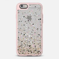 Gold Pink Black and White Party Confetti Explosion iPhone 6s case by Organic Saturation | Casetify