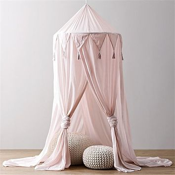 Baby Bed Canopy, Hanging Canopy Net Bedroom Decoration Mosquito Net, Round Dome Canopy