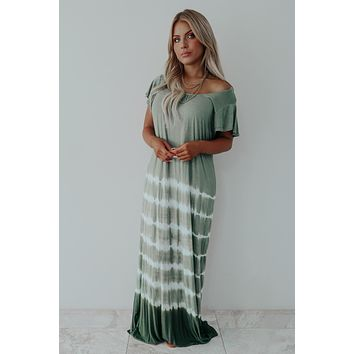 State Of Happiness Maxi: Olive/Multi