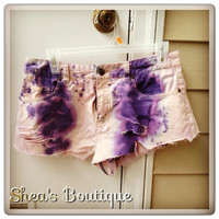 Inverted Cross Studded Pink and Purple Tie Dye by SheaBoutique