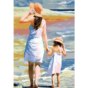 YANXIN DIY Framed Painting By Numbers Oil Paint Photo Wall Art Digital Pictures Painting Decor For Home Decoration Gifts C089