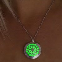 Glowing necklace, glow in the dark ,glow necklace, personalized necklace ,blue glow