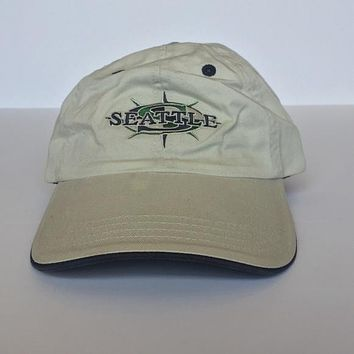 Khaki with logo Seattle Mariners Baseball Cap