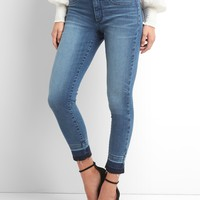 Mid Rise Favorite Jeggings in Distressed with Brushed Lining | Gap
