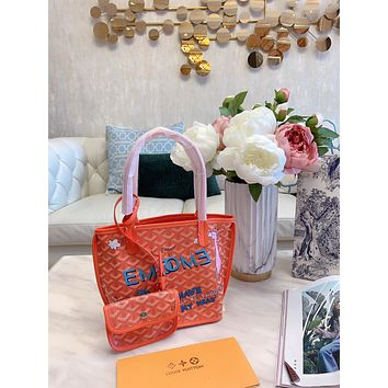 Goyard Women Leather Shoulder Bag Satchel Tote Bag Handbag Shopping Leather Tote Crossbody