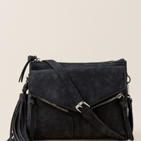 Delaney Tassel & Zipper Distressed Crossbody