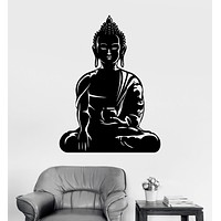 Vinyl Wall Decal Buddha Buddhism Meditation Room Yoga Stickers Mural Unique Gift (ig3400)