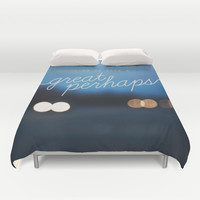 looking for alaska - great perhaps. Duvet Cover by Lissalaine
