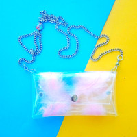 iphone chain bag Phone Cases Small cute small purse pink feathers bag Cellphone Bag,clear Small Purse,cellphone bag,crossbody bag iphone bag