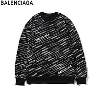 Balenciaga 2019 new full-print alphabet sports and leisure knitted sweater Black