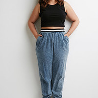 Mineral Wash Athletic-Ribbed Joggers