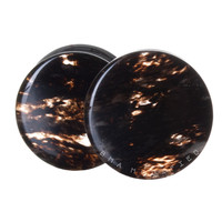 Black Crescent Shadow Glass Plugs (8mm-20mm)
