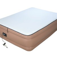 Airtek Queen Foundation series Raised Air Mattress Airbed with Built in Memory Foam Topper, high-end Giga valve for ultra fast deflation, extra thick 2ABQ04009