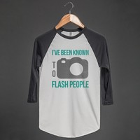 Known to Flash People / Camera Tee - Grab a Shirt - Skreened T-shirts, Organic Shirts, Hoodies, Kids Tees, Baby One-Pieces and Tote Bags