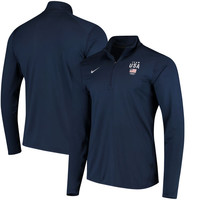 Team USA Nike Performance Solid Element Quarter-Zip Jacket - Navy